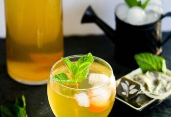 Step for Recipe - Sweet Green Tea and Kumquats Spritzer