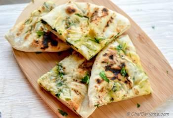 Step for Recipe - Grilled Garlic Cheese Naan Bread