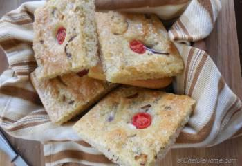 Step for Recipe - Onion and Cherry Tomato Focaccia