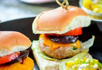 Step for Recipe - Jerk Chicken Sliders with Grilled Pineapple Relish