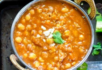 Step for Recipe - Vegan Chickpea Curry in Pressure Cooker