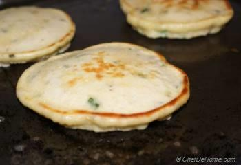 Step for Recipe - Chickpea Flour Pancakes