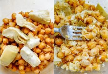 Step for Recipe - Grilled Vegetables and Smashed Chickpeas Sandwich