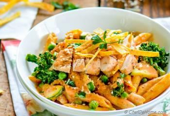 Step for Recipe - Spicy Chicken Chipotle Cream Sauce Pasta