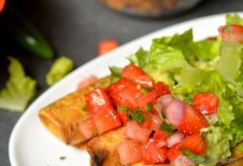 Step for Recipe - Mexican Chipotle Tofu Sofritas Taquitos