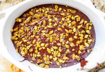 Step for Recipe - Salted Pistachios Mexican Chocolate Pudding Cake