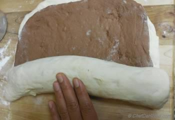 Step for Recipe - White Swirl Chocolate Breakfast Bread
