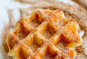 Step for Recipe - Cinnamon Sugar Churro Waffles