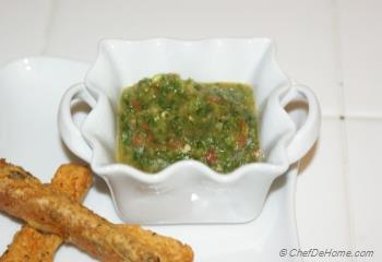 Step for Recipe - Cilantro Tomato Chutney