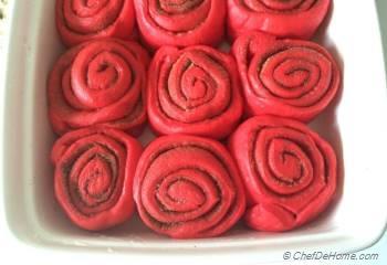 Step for Recipe - Red Velvet Cinnamon Rolls