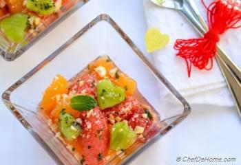 Step for Recipe - Citrus Kiwi Fruit Salad with Pistachio Minted Sugar