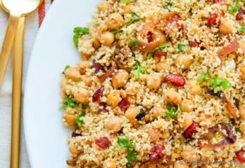 Step for Recipe - Moroccan Couscous Tfaya with Chickpeas and Cranberries