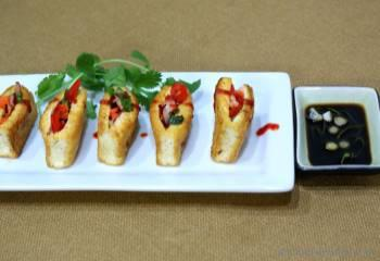 Step for Recipe - Crispy Tofu Snack Pockets with Crunchy Vegetables Filling