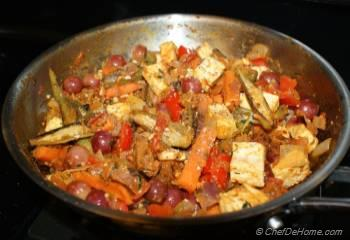 Step for Recipe - Curried Sauteed Mix Vegetables