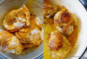 Step for Recipe - One Pot Curry Chicken and Rice