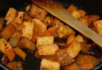 Step for Recipe - Stir Fried Eggplant and Tofu Recipe