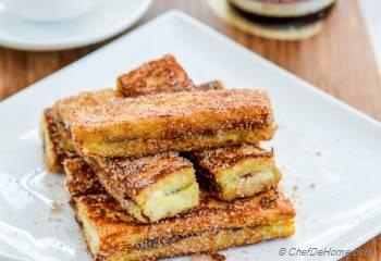 Step for Recipe - Fruit Spread Stuffed French Toast Sticks