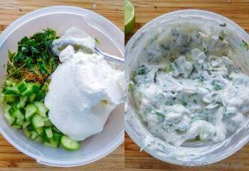 Step for Recipe - Greek Mint and Lamb Burgers with Cucumber Yogurt Sauce