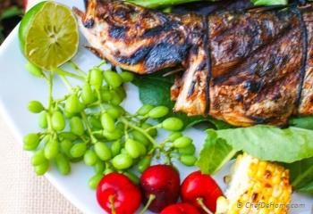 Step for Recipe - Cajon Seasoned Grilled Whole Branzino with Lemons