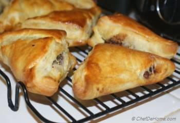 Step for Recipe - Hazelnut Turnovers