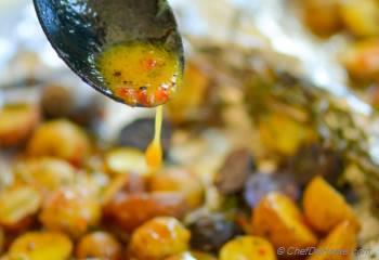 Step for Recipe - Herb Roasted Potatoes with Sweet-Spicy Mustard Dressing