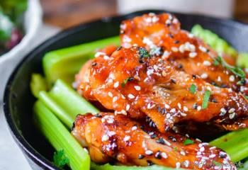 Step for Recipe - Crispy Baked Chicken Wings with Kimchi Caramelized Honey Sauce