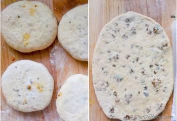 Step for Recipe - Restaurant-Style Indian Keema Naan - Stuffed Lamb Bread