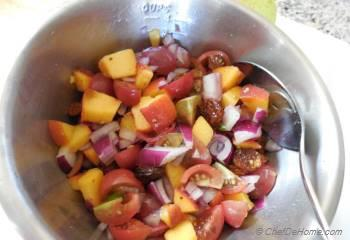 Step for Recipe - Summer Peaches and Black-eyed Peas Salad