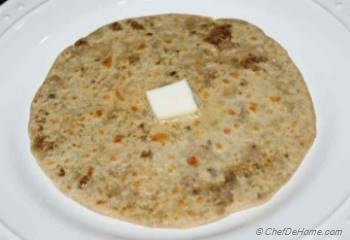 Step for Recipe - Ground Lamb Stuffed Wheat Flat Bread