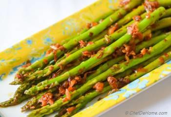 Step for Recipe - Better Than Green Beans - Vegan Kimchi Garlic Asparagus