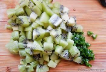 Step for Recipe - Kiwi Jalapeno Chutney Bites
