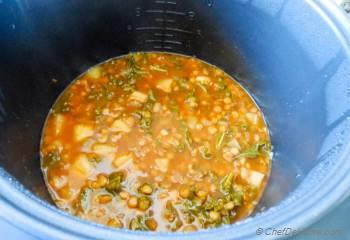 Step for Recipe - Slow Cooker Turnip, Kale and Lentil Soup