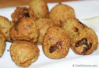 Step for Recipe - Lotus Root Fritters