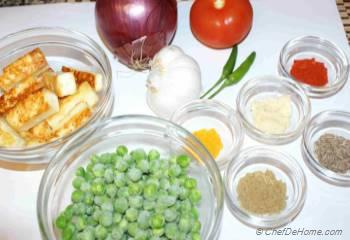 Step for Recipe - Matar Paneer