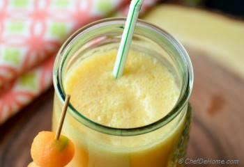 Step for Recipe - Muskmelon Coconut Smoothie