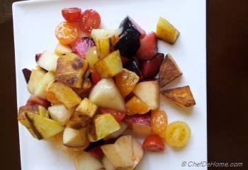 Step for Recipe - Mix Fruit Salad with Roasted Potato Fries