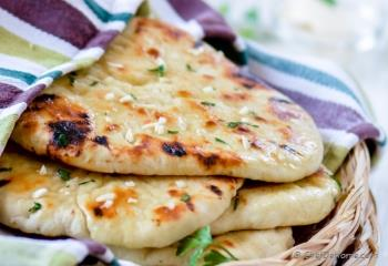Step for Recipe - Homemade No Yeast Garlic Butter Naan