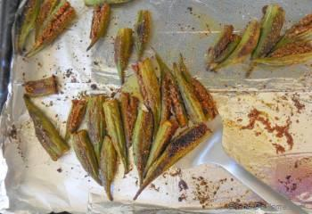 Step for Recipe - Spicy Baked Okra Fries with Homemade Creole Spice and Lime-Cilantro Dip