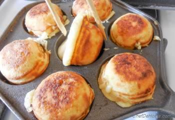 Step for Recipe - Orange-Cream Ebelskivers - Danish-style Filled Pancakes