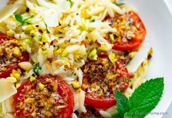 Step for Recipe - Roasted Tomatoes Orzo Pasta