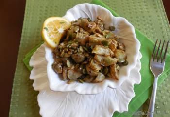Step for Recipe - Roasted Sunchokes with Lemon Sage Dressing