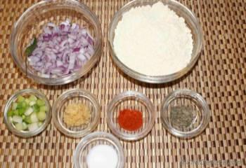 Step for Recipe - Onion and Scallion Chickpea Flour Fritters
