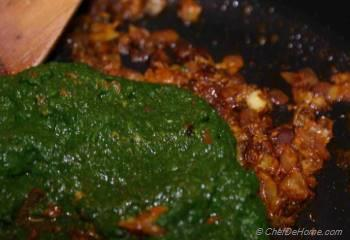 Step for Recipe - Palak Saag Paneer