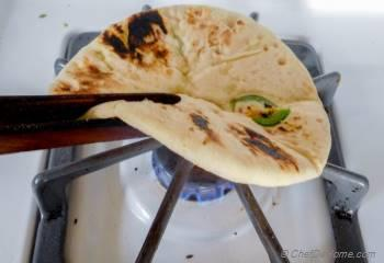 Step for Recipe - Indian Paneer Stuffed Naan | Chili Paneer Naan
