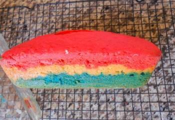 Step for Recipe - Patriotic Tri-Color Pound Cake
