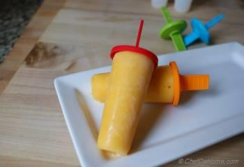 Step for Recipe - Peach and Yogurt Lollies