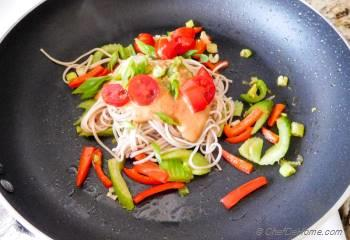 Step for Recipe - Noodles with Chili-Lime Peanut Sauce