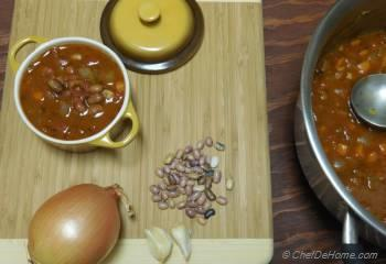 Step for Recipe - Pebble Beans and Roasted Tomato Soup