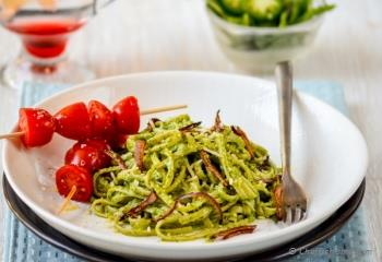 Step for Recipe - Creamy Pesto Pasta