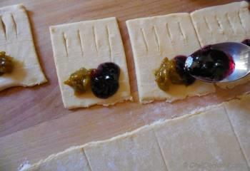 Step for Recipe - Petite Pastry Bites with Blueberry and Homemade Sour Grapes Preserve